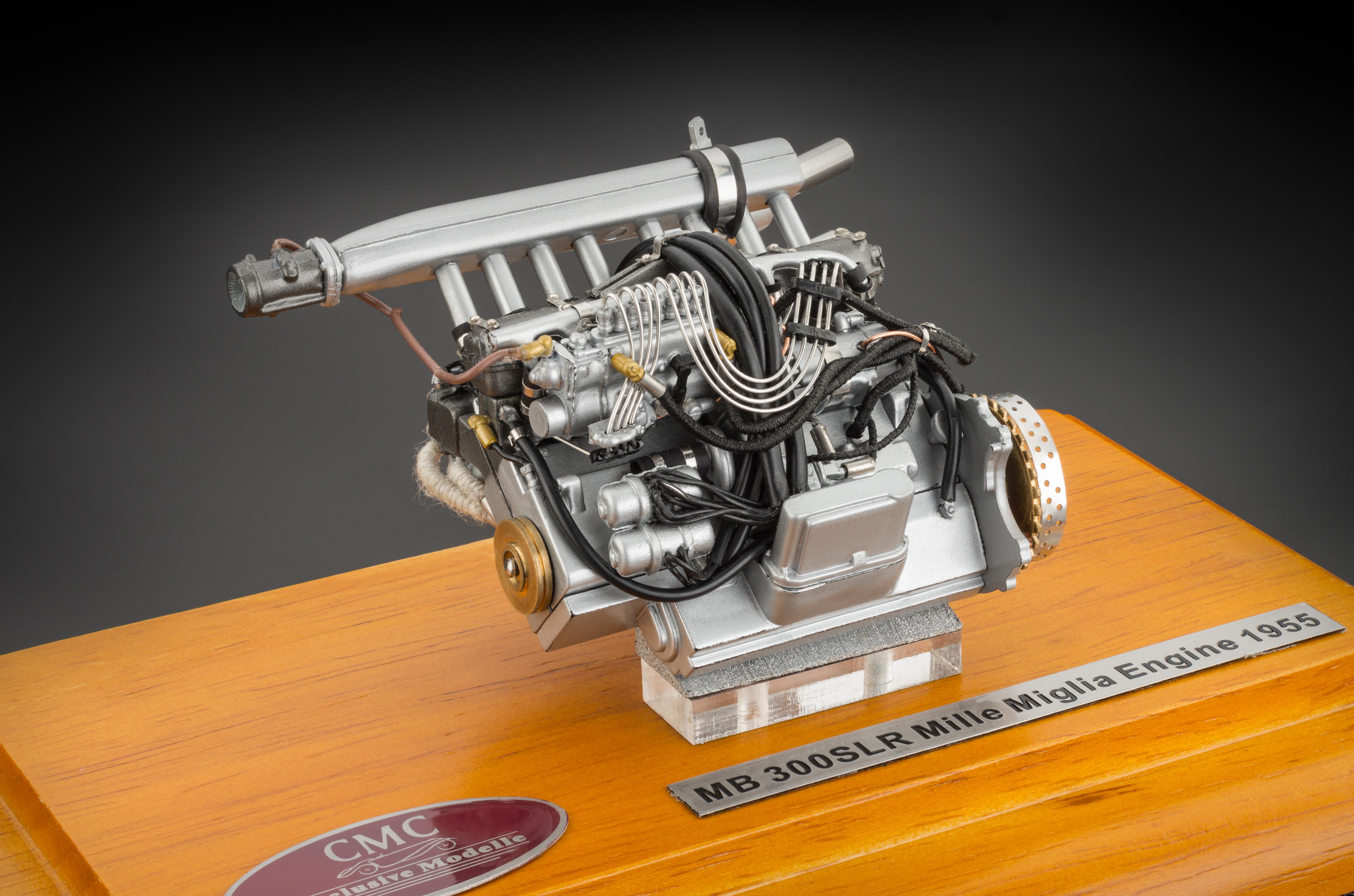 Cmc Mercedes Benz 300 Slr Engine With Display Showcase Cmc Model
