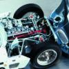 Maserati Tipo 61 hood and engine